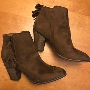 8.5 Merona Dark Brown Booties with Tassel